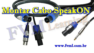Como fazer cabos SpeakON para SpeakON, P10 e XLR