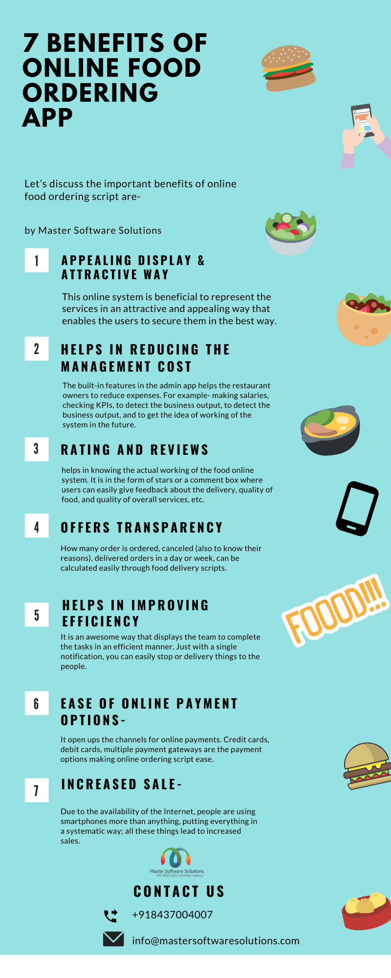 7 Benefits Of Online Food Ordering App #infographic