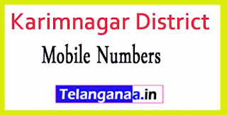 Karimnagar District MPDO's Phone Numbers-Mobile Numbers Telangana State