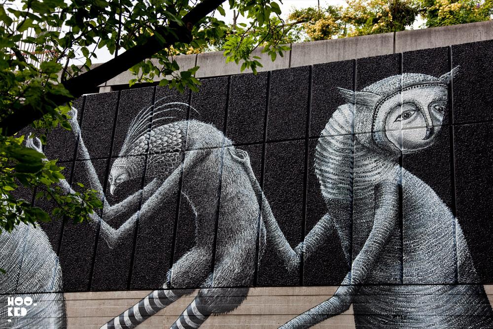 Street Artist Phlegm London Southbank Centre Mural