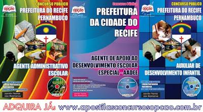 Apostila concurso Prefeitura do Recife 2017 para Professor