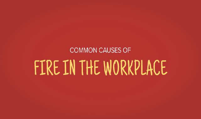 Common Causes of Fire in the Workplace #infographic