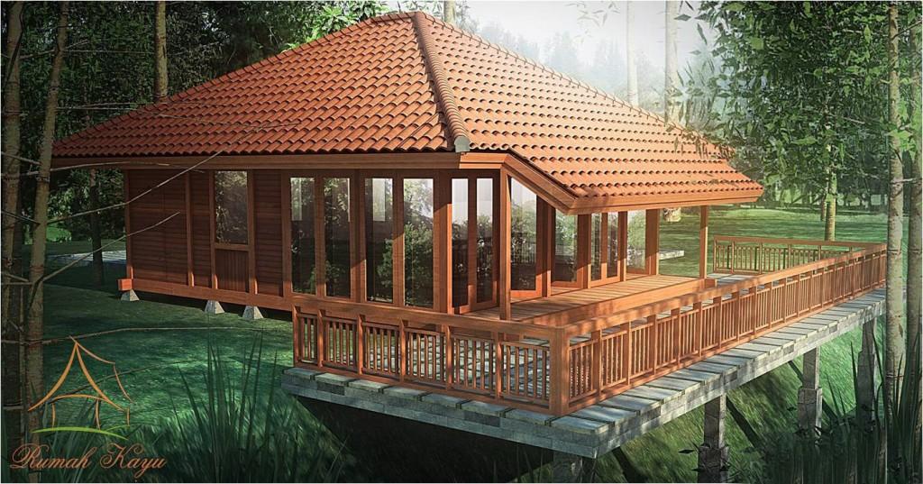 Model Desain Rumah Kayu Minimalis dan Sederhana | Berbagai