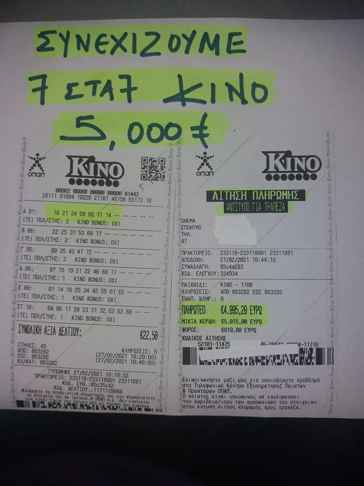 Τύχη βουνό φαίνεται πως είχε το πρωί του Σαββάτου ένας κάτοικος στην Ξάνθη που κατάφερε να κερδίσει 5.000 ευρώ σε ένα πρακτορείο του ΟΠΑΠ.