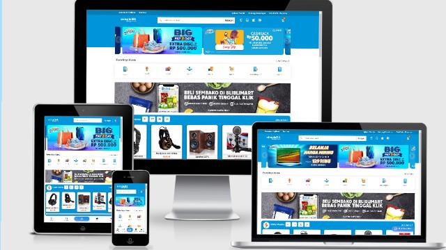 free premium template toko online SimpleBli Bli Blue