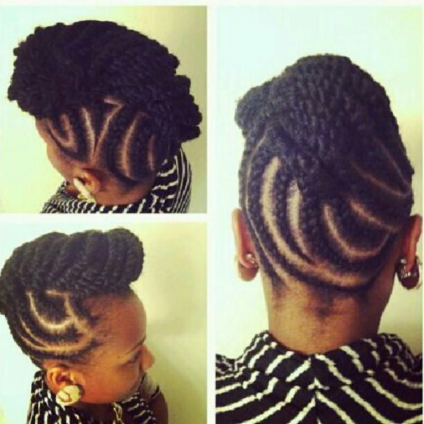 Fly Natural Hair Daily Protective Updo Style