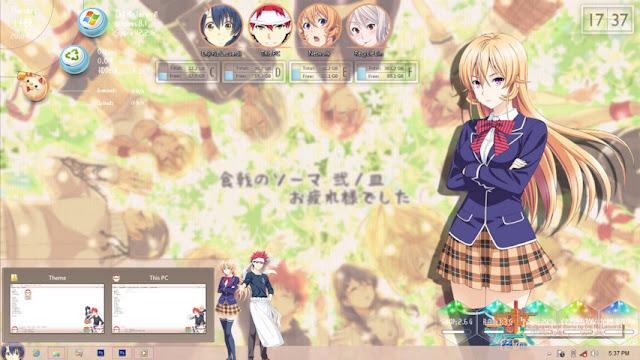Windows 8/8.1 Theme Shokugeki no Soma by Enji Riz