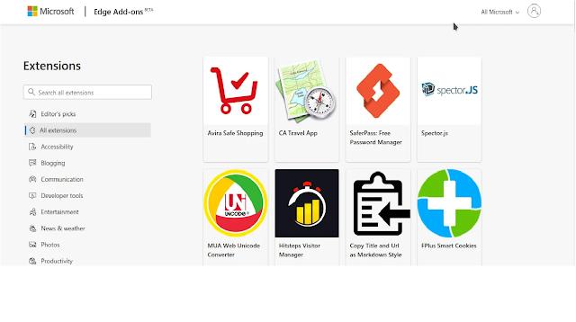 Microsoft Edge Extensions Best Browser Microsoft Edge vs Google Chrome