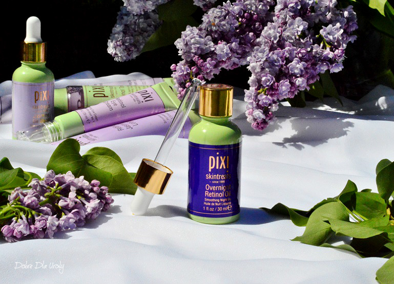 Pixi Retinol & Jasmine Collection - olejek do twarzy z Retinolem na noc recenzja