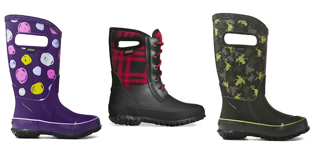 A selection of children's wellies from Bogs