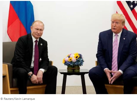Trump says he in no way confronted Putin about Russia bounty reports