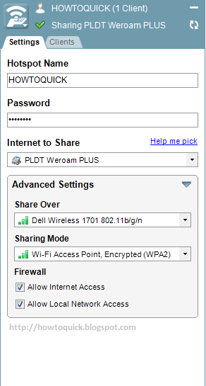 Share Your Laptop Internet Connection Using Wi-Fi via Connectify
