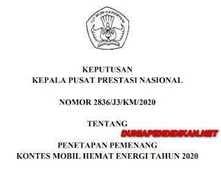 PENGUMUMAN PEMENANG DAN SK KMHE TAHUN 2020. pdf
