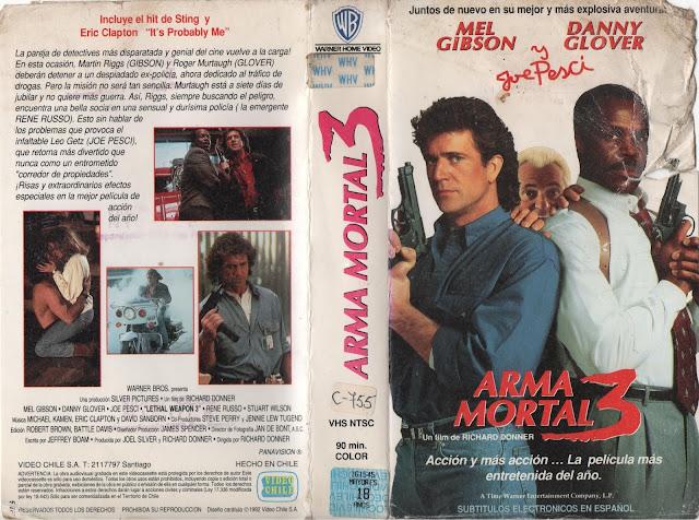 """Pelicula """"Arma Mortal 3"""" - 1992"""
