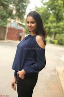 Poojita Super Cute Smile in Blue Top black Trousers at Darsakudu press meet ~ Celebrities Galleries 061.JPG