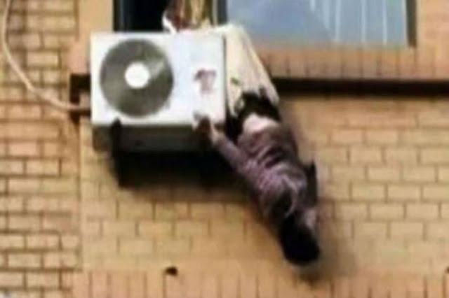 واقعة غريبه رجل حاول الانتحار فبقي معلقاً بين السماء والأرض !! #شاهد