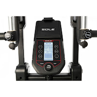 "Sole CC81 Cardio Climber's console with 5"" x 3"" LCD display, bluetooth connectivity, tablet holder, sound system"