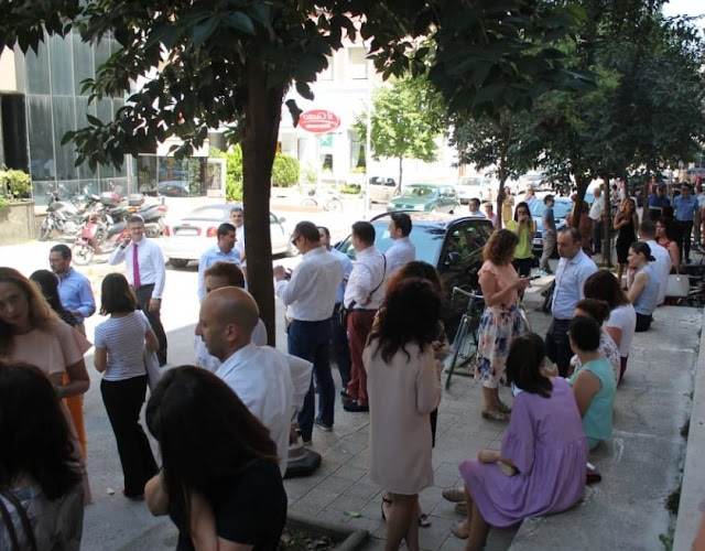 Earthquake in Tirana traumatised people get out of the houses
