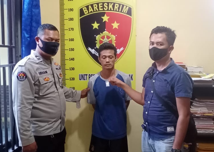 Sapriadi Ditangkap Unit Reskrim Polsek Lembak Diduga Miliki Narkotika Jenis Sabu