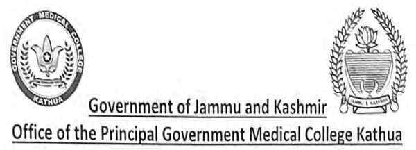 GMC Kathua Jobs Notification 2020