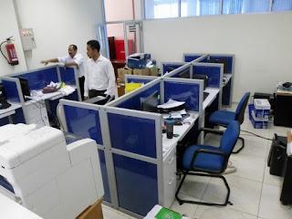 Meja Sekat Partisi Kantor Anti Corona (furniture semarang)