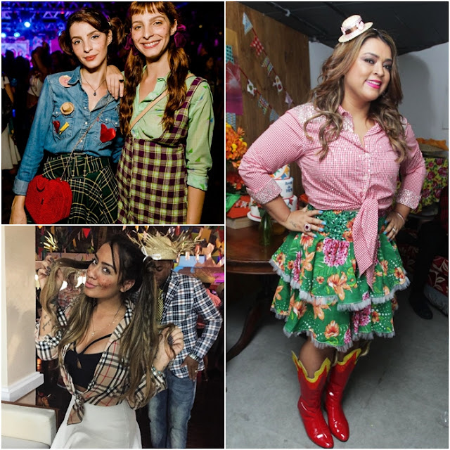 look famosos festa junina