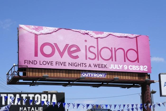 Love Island series premiere billboard