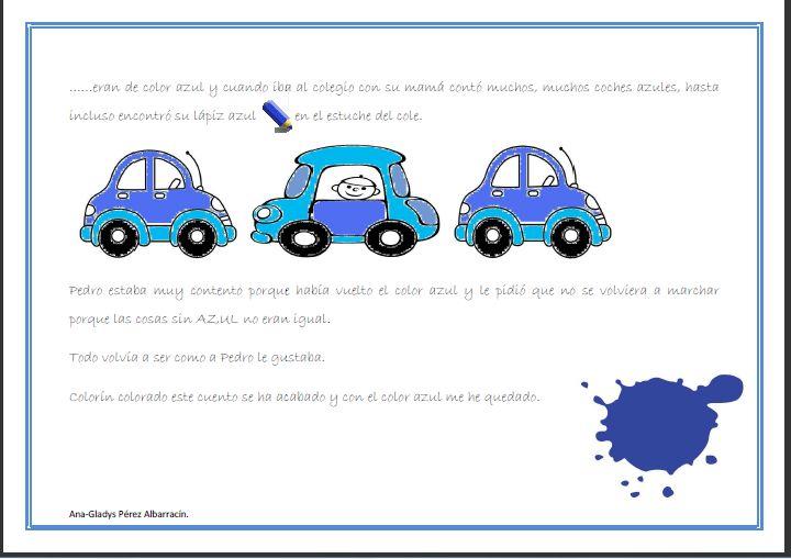 Relatos para Imaginar: Cuento para aprender el color azul.