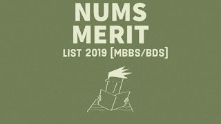 NUMS merit list 2019 official along with bsd merit list