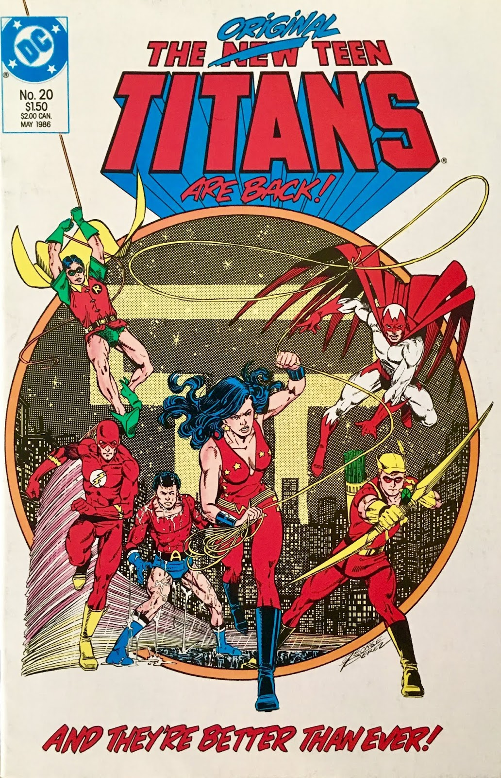 Chris is on Infinite Earths: New Teen Titans (vol 2) #20 (1986)