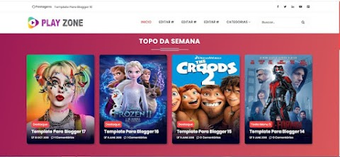 Template Play Zone Filmes Blogger