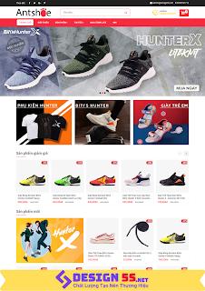 Template blogspot bán giày Ant Shoe Shop tuyệt đẹp