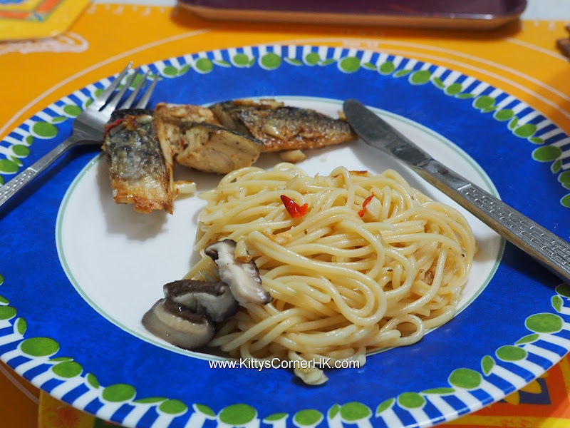 Pan-fried Mackerel with Spaghetti 香煎鯖魚意大利麵 自家食譜 home cooking recipes