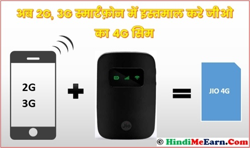 Use Jio 4G sim in 2G, 3G Smartphone