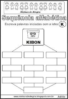 Sequência alfabética letra K