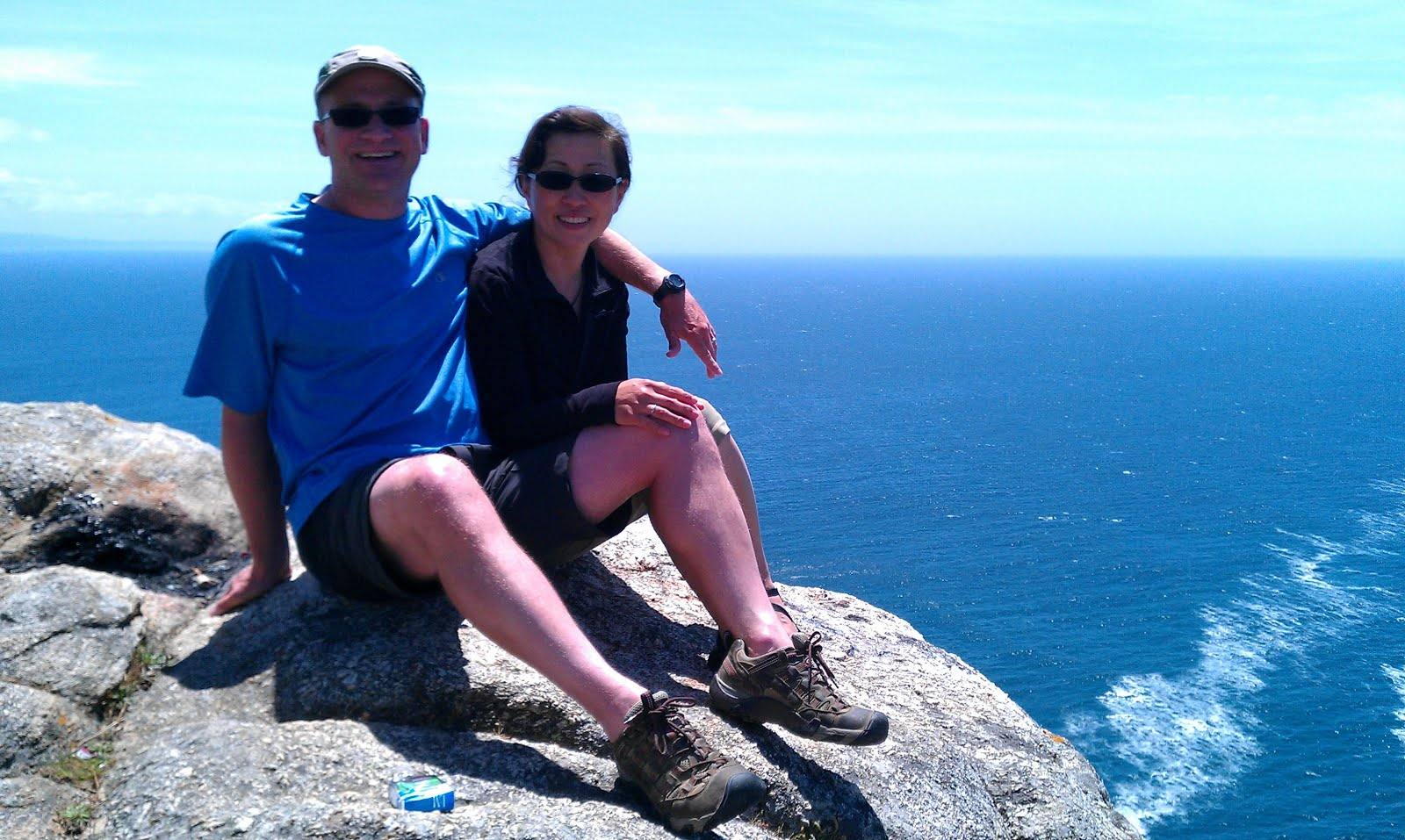 Will and Julie at Finisterre, Spain