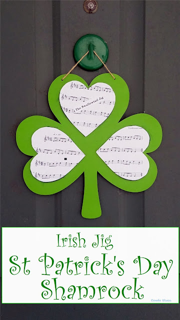 DIY st patricks day shamrock decoration
