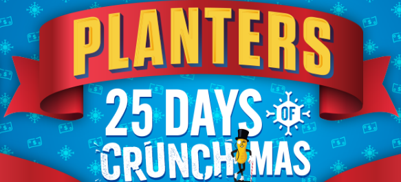 Planters and Mr. Peanut want your holidays to totally crunch this year! Play their instant win game daily for a chance at $1000 Walmart Gift Cards!