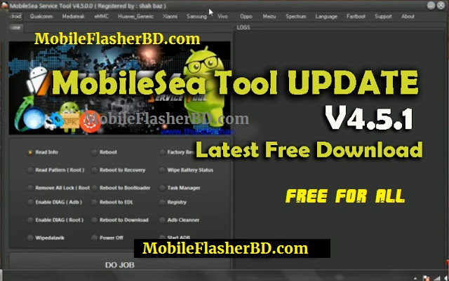 Download MobileSea Tool V4.5.1 Setup Latest Update Unlock Tool Free For All Without Password