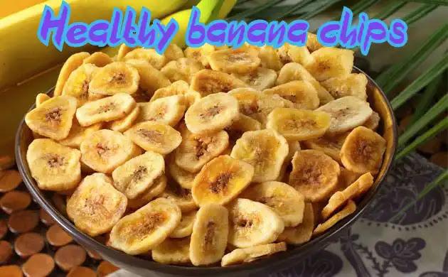 Method of making banana chips | Healthy banana chips recipe