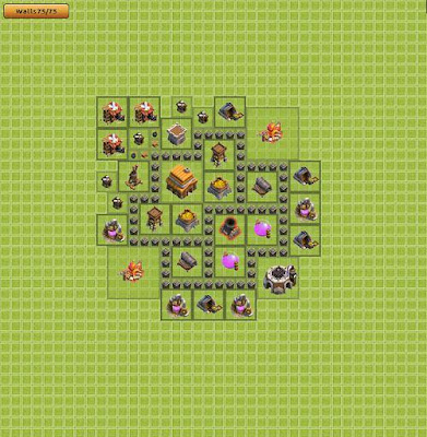 Base Clash of Clans Town Hall 4
