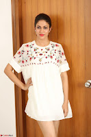 Lavanya Tripathi in Summer Style Spicy Short White Dress at her Interview  Exclusive 191.JPG