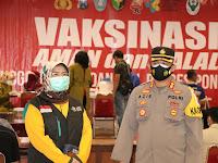 Sebanyak 925 Anggota Polres Ponorogo Ikuti Vaksinasi di Sasana Praja