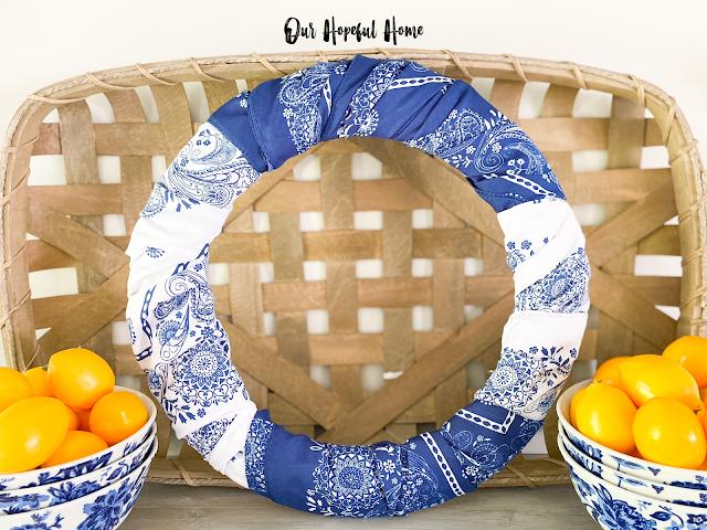 tobacco basket bandana wreath lemons china bowls