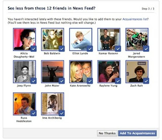 Add people to acquaintances on Facebook