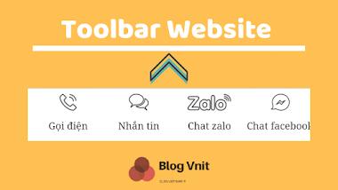 Tạo Thanh Toolbar Cho website , Liên Hệ Nhanh Trên Mobi