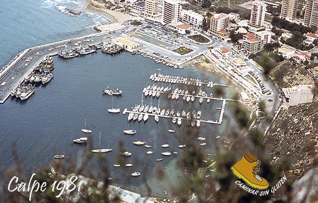 PUERTO DE CALPE DESDE VIA VALENCIANOS PEÑON DE IFACH 1981