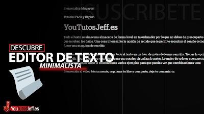 Editor de Texto Minimalista Online 😊 Privado y Gratuito
