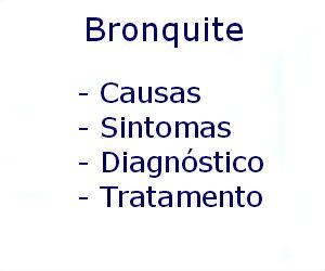 Bronquite causas sintomas diagnóstico tratamento prevenção riscos complicações