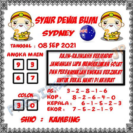 Syair Dewa Bumi Sidney Hari Ini 08-09-2021